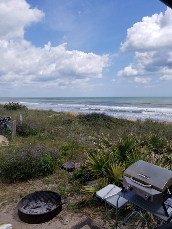 Site 23 Gamble Rogers State Park Back View